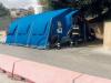 Tenda pre-triage all'ospedale di Castelvetrano