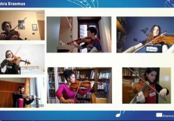 Mascagni e il  concerto a distanza dell'orchestra Erasmus  - Corriere Tv