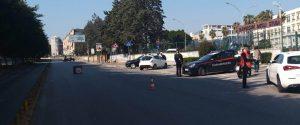 Posto di blocco in via Ernesto Basile a Palermo