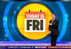 Sapete che giorno è oggi? Il simpatico segmento della tv locale americana In questi tempi di coronavirus, di isolamento e distanza sociale, molti di noi hanno perso la percezione del tempo. - Dalla Rete