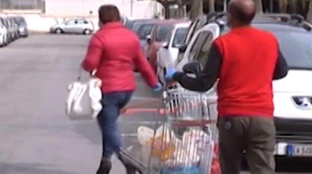 buoni spesa, coronavirus, Giuseppe Mattina, Leoluca Orlando, Palermo, Economia