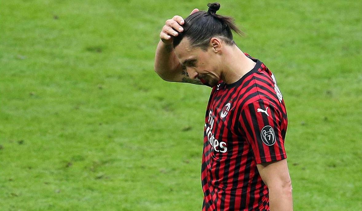 Tegola sul Milan, per Ibrahimovic stop di almeno 10 giorni - Giornale di  Sicilia