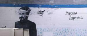 Catania, ripulito il murale dedicato a Peppino Impastato