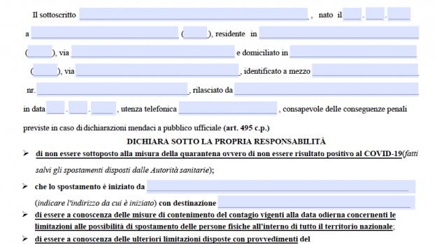 Autocertificazione, Sicilia, Cronaca