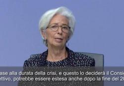 Coronavirus, Lagarde: «Pronti ad estendere Pepp oltre 2020» La presidente della Bce in conferenza stampa - Ansa