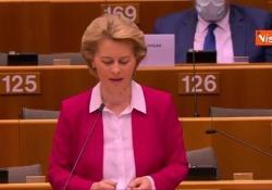 Coronavirus, von der Leyen: «Piano di rilancio coraggioso per l'Ue da 750 miliardi di euro» Le parole della presidente della Commissione Ue - Agenzia Vista/Alexander Jakhnagiev