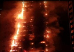Emirati Arabi: in fiamme grattacielo di quasi 200 metri La Abbco Tower di Sharjah si è incendiata martedì sera negli Emirati Arabi Uniti - CorriereTV