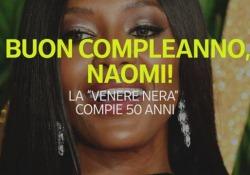 La super modella Naomi Campbell compie 50 anni La carriera della «Venere Nera» - Ansa