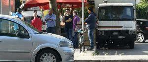 La protesta degli ambulanti al mercato di viale Francia