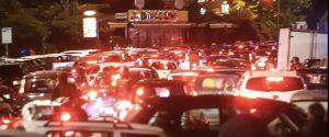 Traffico in tilt a Napoli sabato sera