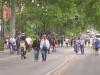 A Palermo via Libertà torna isola pedonale dopo il lockdown tra passeggiate e ciclisti
