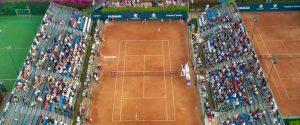 Pubblico sugli spalti per una partita di tennis, in 500 ammessi ai 31° Palermo Ladies Open