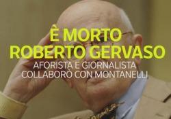 È morto Roberto Gervaso, aforista collaborò con Montanelli Dopo una lunga malattia, il giornalista e saggista scompare all'età di 82 anni - Ansa