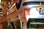 Messina, incidente sulla tangenziale: un'auto si ribalta e fa sbalzare fuori il conducente