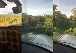 L'incredibile atterraggio di un aeroplano in mezzo alla giungla Un appassionato di aviazione ha condiviso sui social il video registrato dalla cabina di pilotaggio di un piccolo aereo - CorriereTV