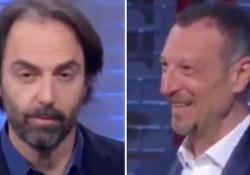 Neri Marcorè e l'imitazione (perfetta) del premier Conte Ospite di Amadeus a I soliti ignoti su Raiuno - Corriere Tv