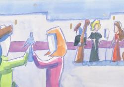 «Piazza Grande», il classico di Dalla reinterpretato da Tosca e Silvia Perez Cruz: il video in anteprima  La cantante si cimenta in coppia con l'artista spagnola in un video realizzato dal live painter Andrea Spinelli  - Corriere Tv