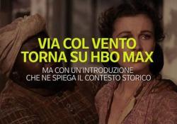 «Via col Vento» torna su HBO, ma preceduto da un disclaimer L'introduzione video che ne spiega il contesto storico - Ansa