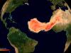La nube di sabbia del Sahara catturata da Sentinel 5-P (fonte: Copernicus Sentinel data (2020), processed by ESA)