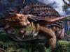 Rappresentazione artistica del dinosauro erbivoro Borealopelta markmitchelli. Il suo ultimo pasto si è conservato per 110 milioni di anni (fonte: Julius Csotonyi/Royal Tyrrell Museum Of Palaeontology)