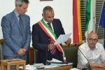 Da sinistra: il presidente del Consiglio comunale Antonino Galati, il sindaco Graziano Calanna e l'ex assessore Ernesto Di Francesco