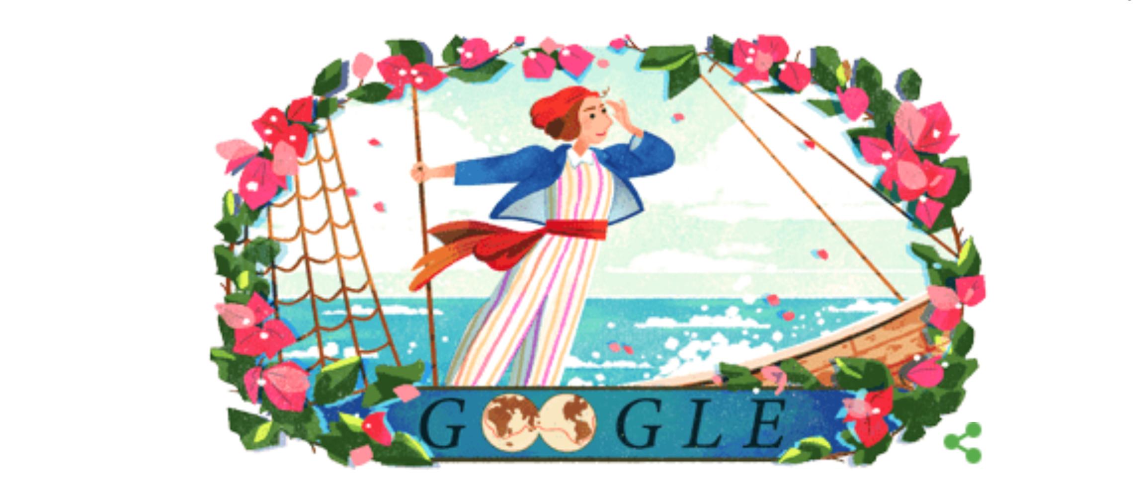 il doodle di google celebra jeanne baret chi era l esploratrice travestita da uomo giornale di sicilia il doodle di google celebra jeanne