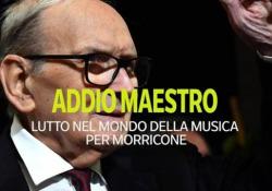 Addio a Ennio Morricone, scompare un pezzo della storia della musica cinematografica Lutto nel mondo della musica per Ennio Morricone - Ansa