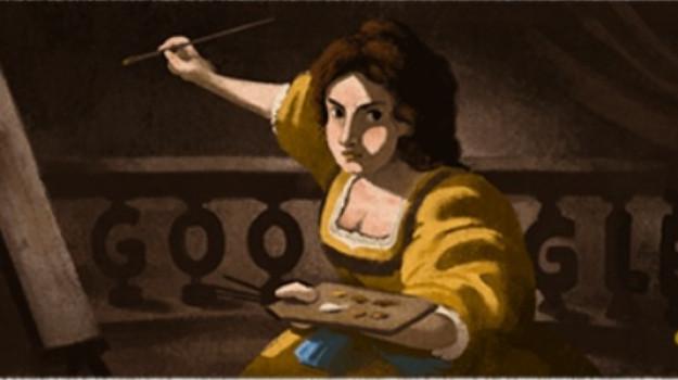 arte, doodle di google, Artemisia Gentileschi, Sicilia, Cultura