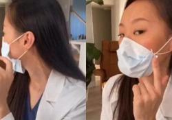 Come usare la mascherina ed evitare che si apra sui lati Il video virale di una dentista americana da milioni di clic - CorriereTV