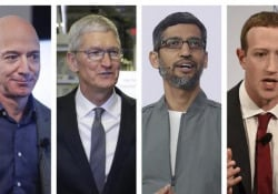 """I """"giganti"""" del tech davanti alla commissione Antitrust I Ceo di Google, Amazon, Facebook e Apple hanno difeso le loro società - Ansa"""