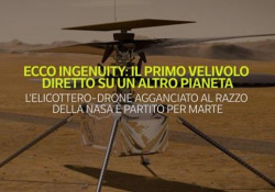 Mars 2020, ecco Ingenuity: il primo velivolo a volare su un altro pianeta L'elicottero-drone agganciato al razzo della Nasa è partito per Marte - Ansa
