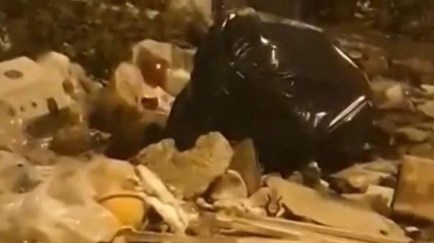Topi e cumuli di rifiuti abbandonati, il video del degrado nelle periferie di Partinico