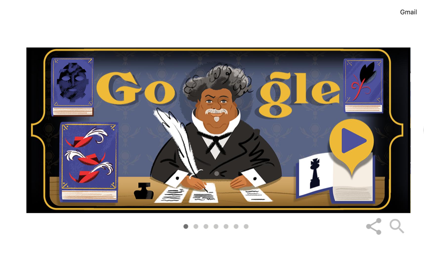 google celebra lo scrittore alexandre dumas con un fantastico doodle ecco perche fu cosi amato giornale di sicilia google celebra lo scrittore alexandre