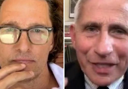 Fauci intervistato da Matthew McConaughey: «Se negli Usa si contagiassero tutti, la percentuale di morti sarebbe enorme» Il medico consulente di Trump in un'intervista su Instagram con Matthew McConaughey - Ansa