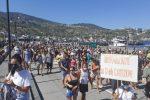 Protesta a Lipari per la morte di Lorenza Famularo
