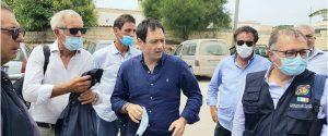 L'assessore Ruggero Razza a Lampedusa