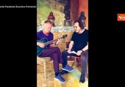 Zucchero e Sting improvvisano in un duetto «Fields of gold» in italiano I due musicisti insieme sui social - Agenzia Vista/Alexander Jakhnagiev