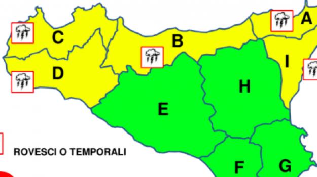 allerta gialla, Sicilia, Meteo