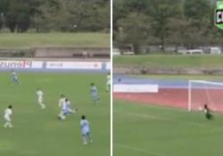 Giappone, segna con un pallonetto da centrocampo La giocata nel campionato femminile - Dalla Rete