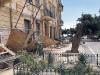 Agrigento, il vento fa crollare un'impalcatura in piazza Cavour: nessun ferito