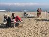 Turismo: spiagge aperte a Riccione, gente in costume