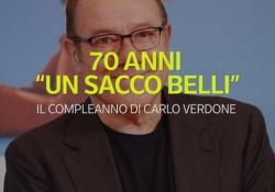 """70 anni """"un sacco belli"""": il compleanno di Carlo Verdone Romano, si avvicina al cinema fin da bambino, grazie al padre Mario - Ansa"""