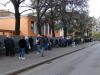 Lafflusso dei bolzanini per lo screening di massa, iniziato alle ore 8