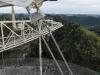 Particolare di uno dei due cavi rotti, che hanno portato alla decisione di mandare in pensione l'osservatorio di Arecibo (fonte: University of Central Florida/Arecibo Observatory)