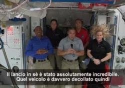 Crew Dragon sulla Iss, il comandante: «Il lancio è stato incredibile» L'equipaggio sarà in missione per sei mesi - LaPresse/AP