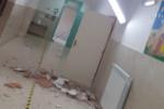 """Cassibile, crolla il soffitto alla scuola """"Falcone e Borsellino"""""""