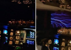 Lo strano fenomeno dei fuochi di Sant'Elmo ripreso dal cockpit dell'aereo Si verifica in determinate condizioni meteorologiche e non causa danni all'aeromobile - CorriereTV