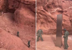 Nel deserto dello Utah hanno trovato un misterioso monolite di metallo La scoperta è avvenuta per caso durante un volo in elicottero - CorriereTV