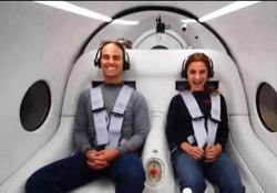 Primo test passeggeri per il treno supersonico Hyperloop di Virgin Nel deserto vicino a Las Vegas il primo viaggio con due persone a bordo - Corriere Tv