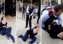 Spagna: il brutale video del poliziotto che spara con il taser alla ragazza Il filmato ha generato diverse polemiche nel Paese - Dalla Rete